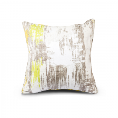 ABSTRACT PATTERN CUSHION WITH PIPING