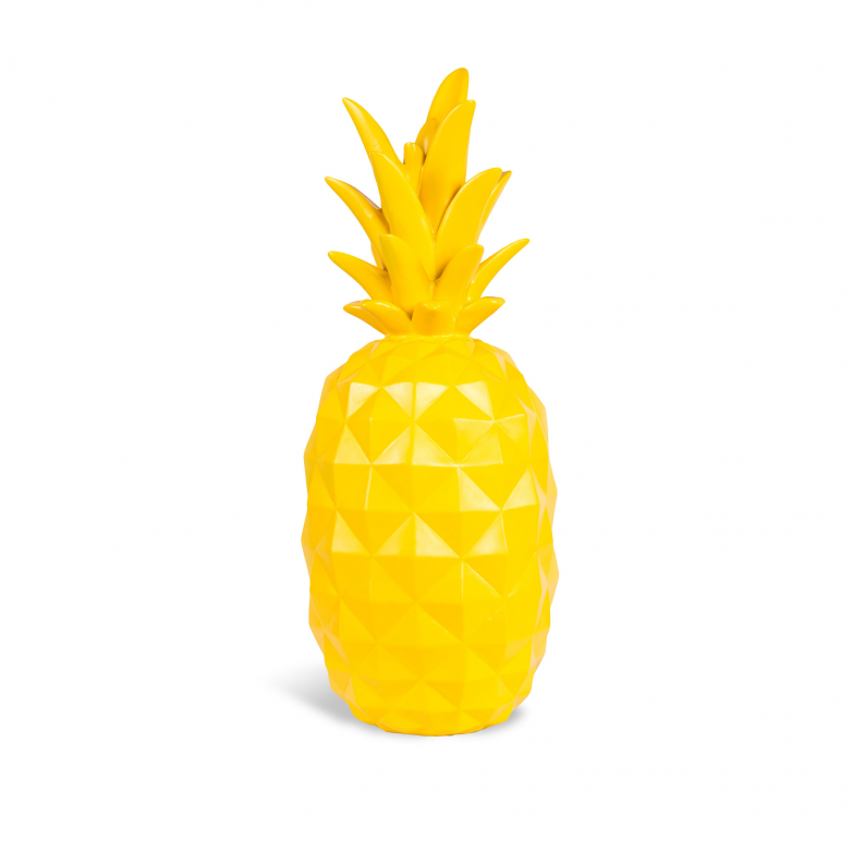 DECORATIVE YELLOW PINEAPPLE FIGURE