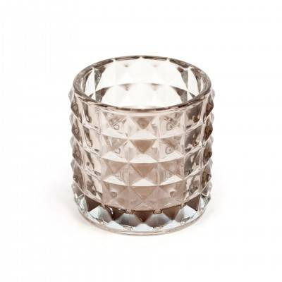 SET OF STUDDED DESIGN TEALIGHT HOLDERS