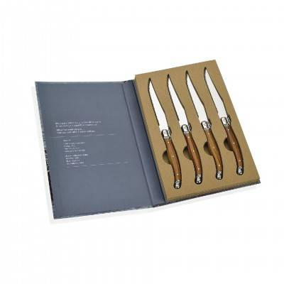 SET 4 KNIFES BOOK BOX