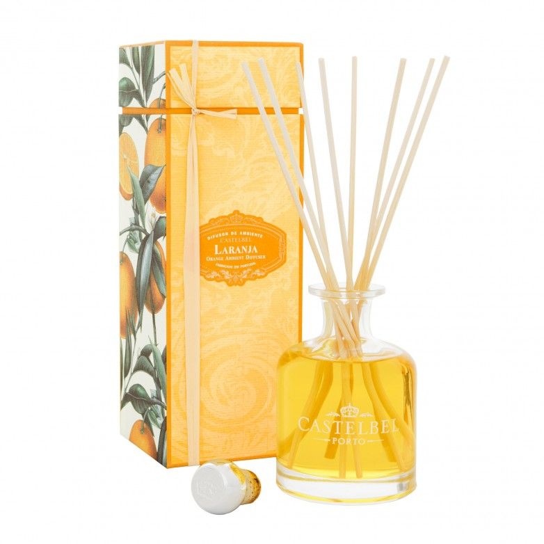 3 ORANGE CASTELBEL FRAGANCE DIFFUSERS 250mL