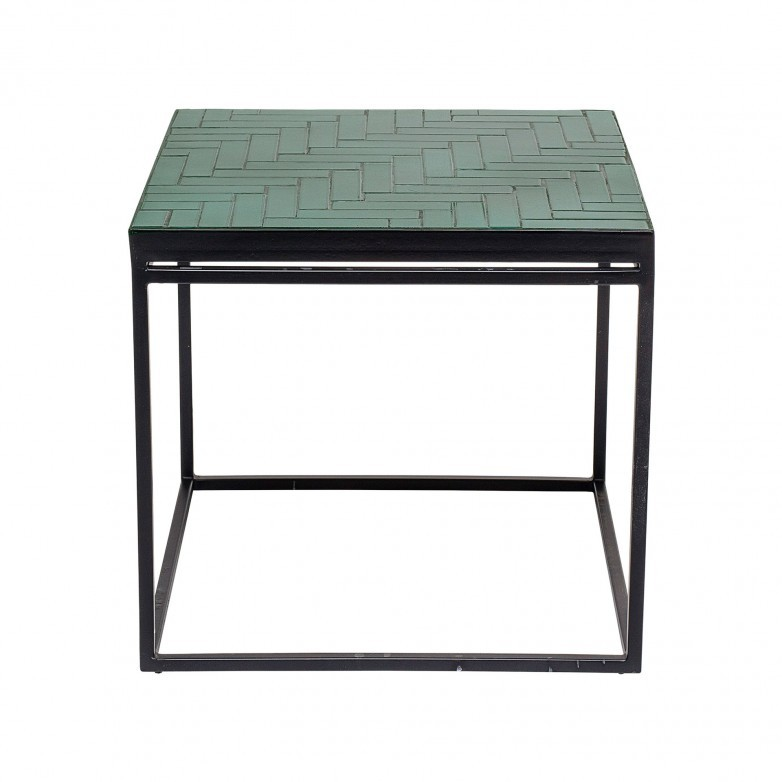 89176773 Bay Sidetable, Green, Concrete