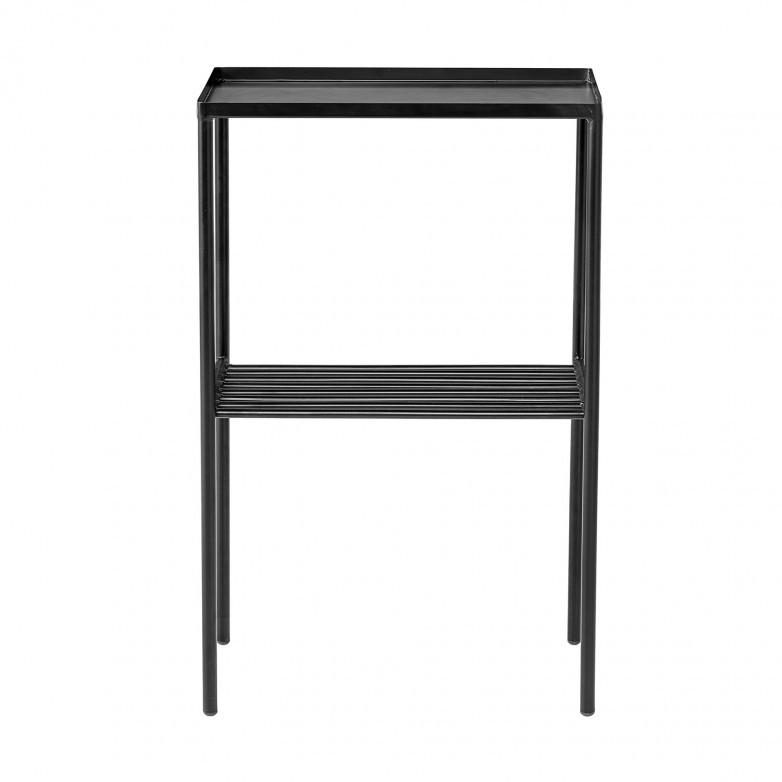 GRID BLACK SIDE TABLE
