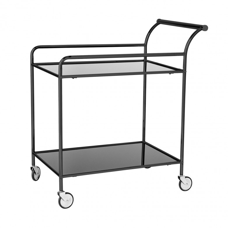 FINE BLACK BAR TROLLEY