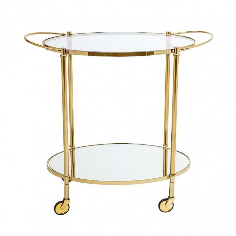 FINE GOLD BAR TROLLEY