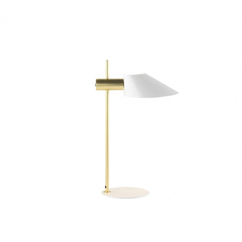COHEN TABLE LAMP IN GOLD METAL.