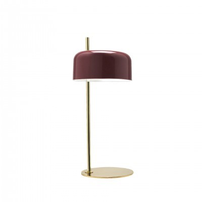 METAL TABLE LAMP LALU GOLD AND MAROON FINISH