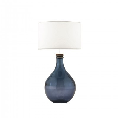 BLUE COLORED GLASS TABLE LAMP