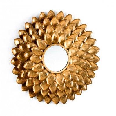 ESPELHO GOLD FLOWER