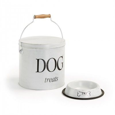 DOG'S BUCKET AND PLATE