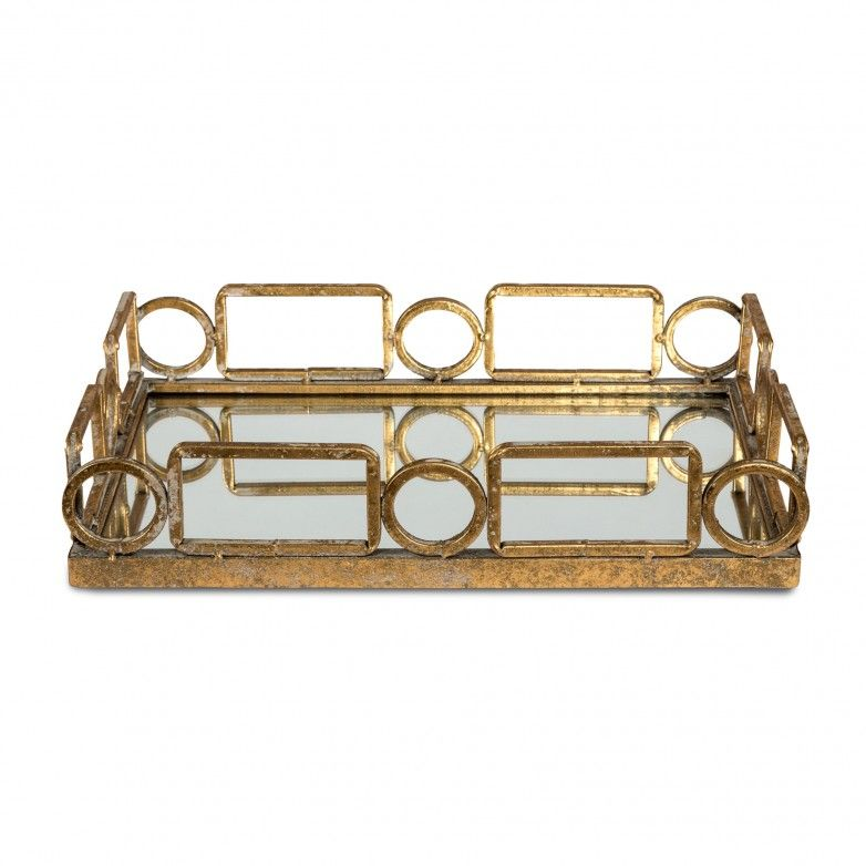 TRAY METAL AND MIRROR RUST EFFECT 51