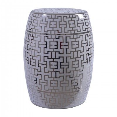 DECORATIVE CERAMIC STOOL