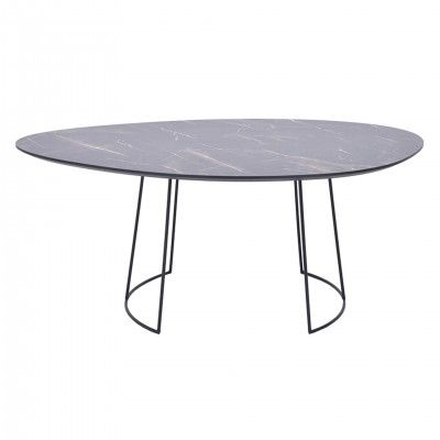MARBLE OVAL CENTER TABLE