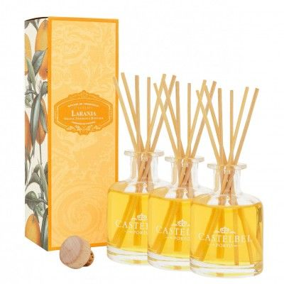 3 DIFUSORES FRAGANCIA CASTELBEL ORANGE 100mL