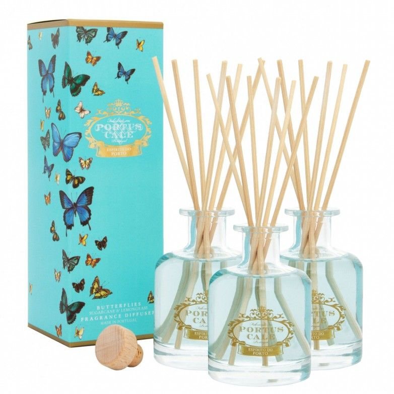 3 DIFUSORES PORTUS CALE BUTTERFLIES 100mL
