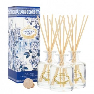 3 DIFUSORES PORTUS CALE GOLD&BLUE 100mL