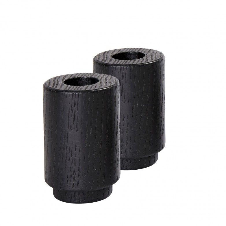SET 2 CREATE ME BLACK CANDLE HOLDER L