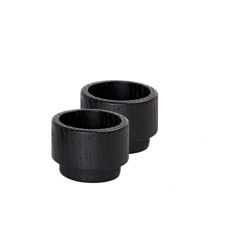 SET 2 PORTA-VELAS CREATE ME BLACK S