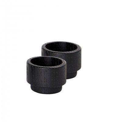 SET 2 CREATE ME BLACK CANDLE HOLDER S