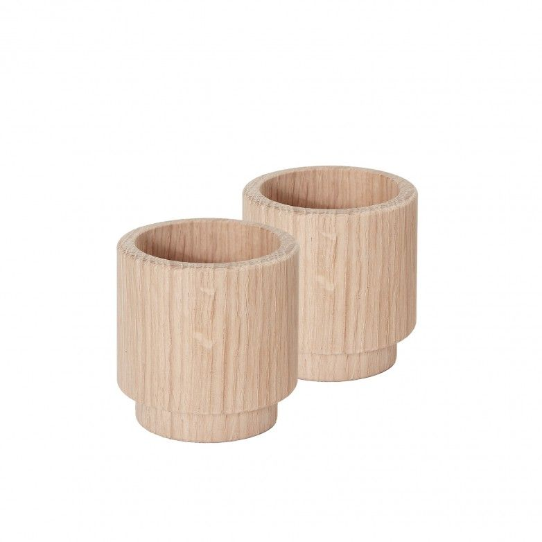 SET 2 PORTA-VELAS CREATE ME OAK M