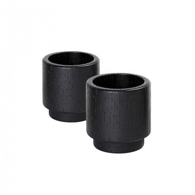 SET 2 PORTA-VELAS CREATE ME BLACK M