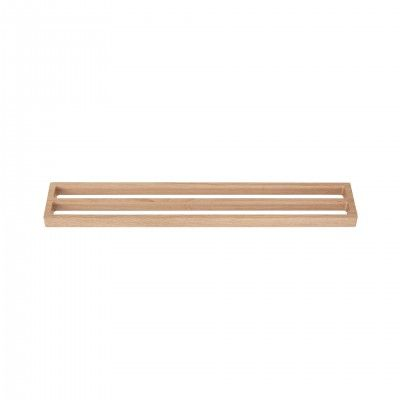 OAK DOUBLE TOWEL RACK