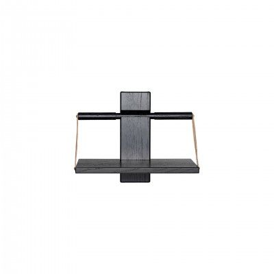 WOOD WALL BLACK SHELF S