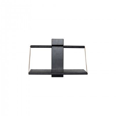 WOOD WALL BLACK SHELF M