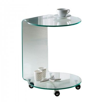 ROUND TABLE WHEELS GLASS