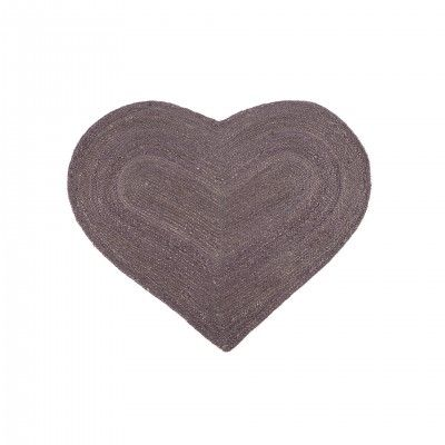 TAPETE JUTE CORAZON PURPLE S