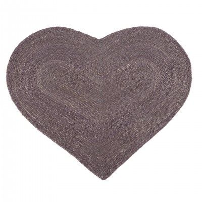 TAPETE JUTE CORAZON PURPLE L