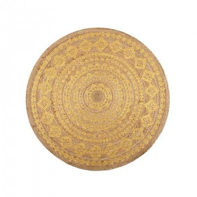 JUTE STAMPATO GOLD RUG S