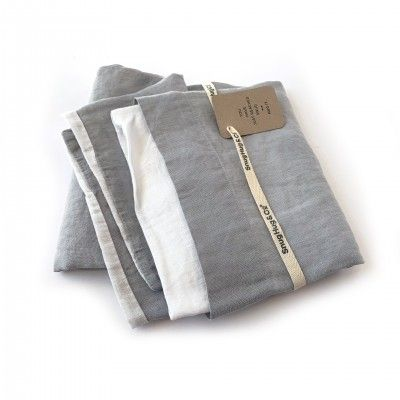 DOUBLE WHITE GREY 50 PILLOWCASE