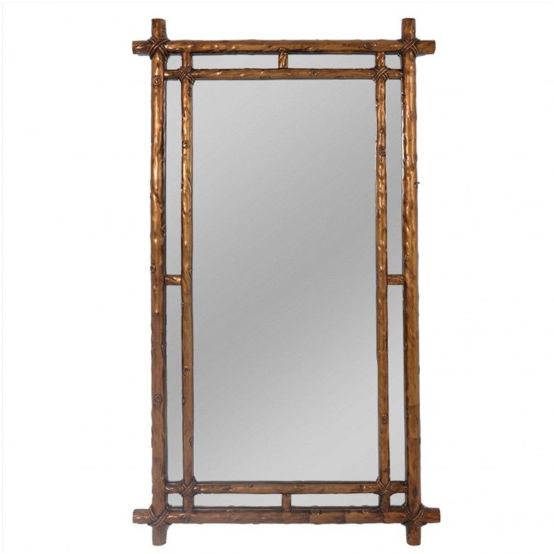 RECTANGULAR GOLD MIRROR M