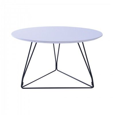 ROUND METAL CENTER TABLE