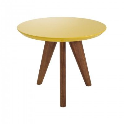YELLOW WOOD SIDE TABLE