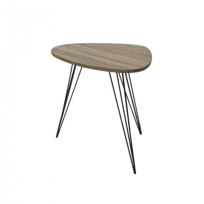OVAL WOOD SIDE TABLE I