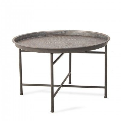 ROUND METAL CENTER TABLE  I