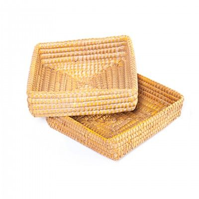 SET 2 YELLOW AGRA BASKETS