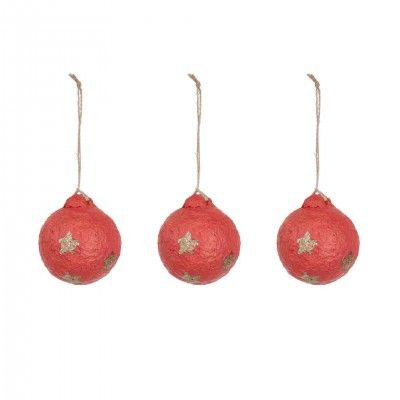 SET RED GALIA ORNAMENT