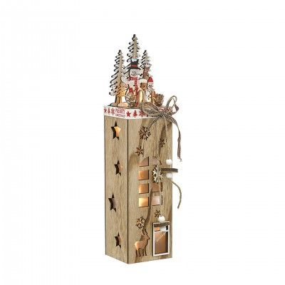 WOOD TOWER DECORATIVE PIECE