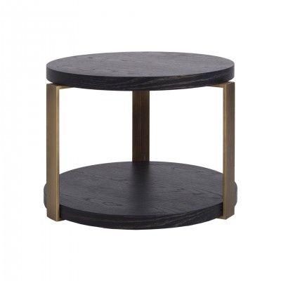 BROWN OAK CENTER TABLE