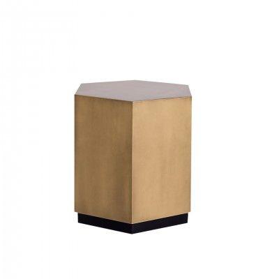 HEXAGONAL GOLDEN SIDE TABLE S