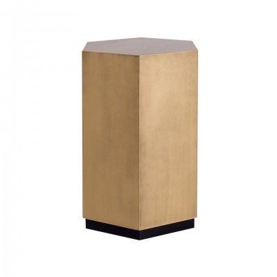 HEXAGONAL GOLDEN SIDE TABLE L