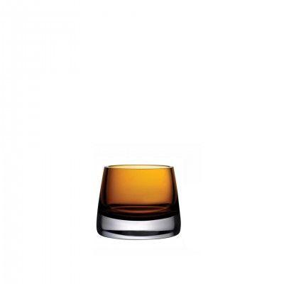 JOY TEALIGHT AMBER GLASS