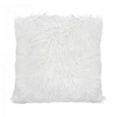 WHITE MONGOLIAN CUSHION - ANDREA HOUSE
