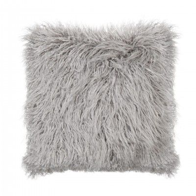 GREY MONGOLIAN CUSHION - ANDREA HOUSE