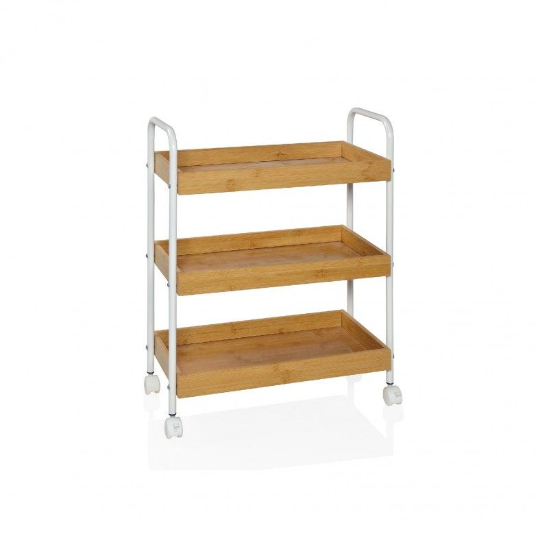 WHITE SUPPORT TROLLEY - ANDREA HOUSE