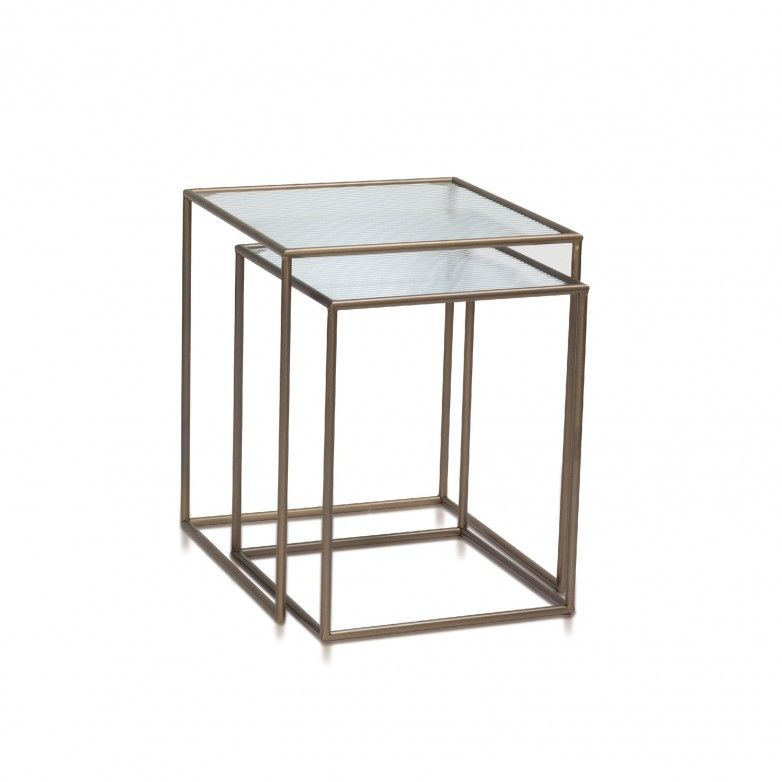SET 2 GLASGOW SIDE TABLES - ANDREA HOUSE