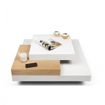 WHITE OAK SLATE CENTER TABLE